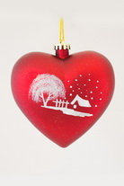 Игрушка новогодняя глянцевое сердце