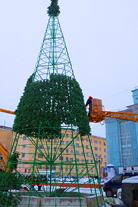 Услуги по монтажу и оформлению елок