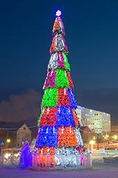 Секторное освещение для елки