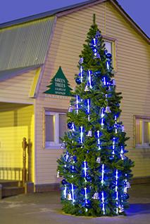 Комплект освещения на елку Тающие сосульки